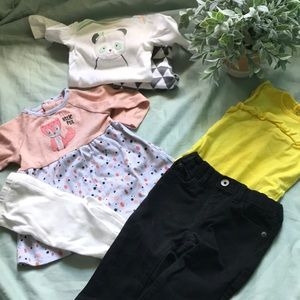 3 baby girl 6-9 month outfits